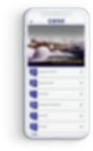 Celular com o aplicativo CWSE Brasil aberto na tela inicial.