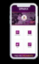 Celular com o aplicativo DPMAX - Folha de Pagamento aberto na tela inicial.