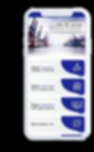 Celular com o aplicativo Cooperportomar aberto na tela inicial.