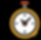 Relógio em movimento representando a agilidade na entrega dos serviços