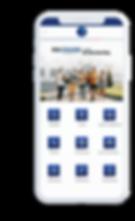 Celular com o aplicativo FASAM Mobile aberto na tela inicial.
