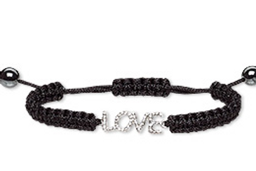 Black Rope Love Bracelet