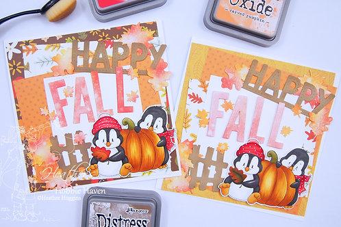 Penguin Pumpkin Patch Card Kit