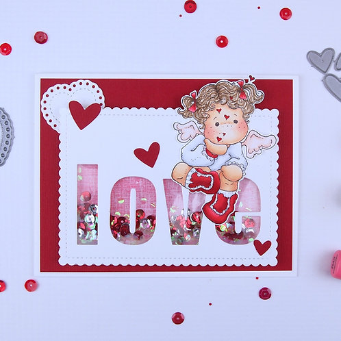 Tilda with Floating Hearts Card Kit