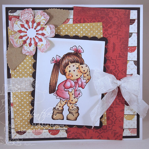Tilda with Heart Spots Card Kit