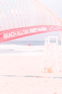 fui à praia