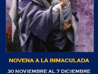 Novena a la Inmaculada