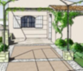 perspective Ramatuelle - Architecte paysagiste Vertigo Paysage