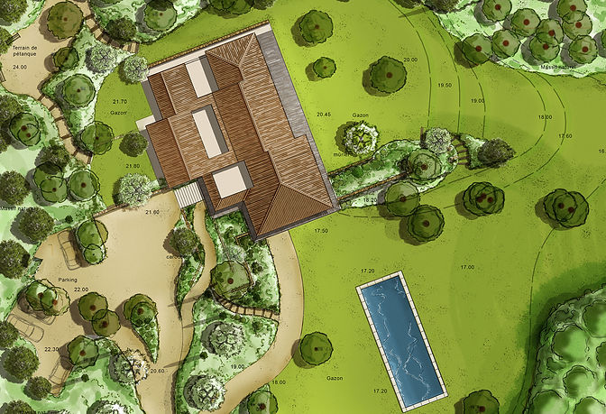 Projet de jardin Ramatuelle (Var) - Architecte paysagiste Saint-Tropez
