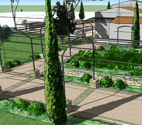 perspective Ramatuelle (Var) - Architecte paysagiste Vertigo Paysage