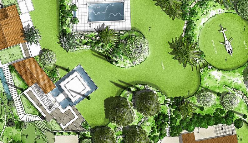 Plan paysager Grimaud - Architecte paysagiste Saint-Tropez (Var)