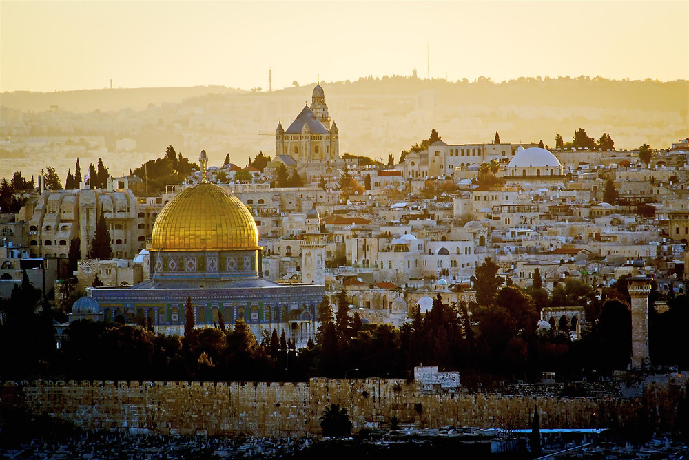 Jerusalem at sunrise.