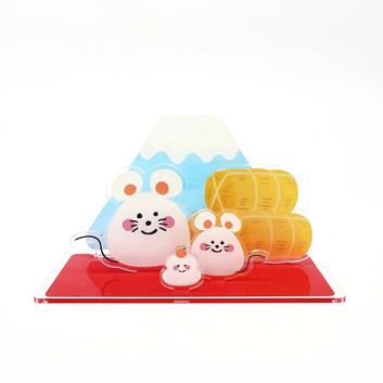 No.2 正月飾りDX ねずみ 正面