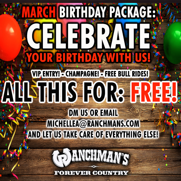 March 2020 Birthday Package