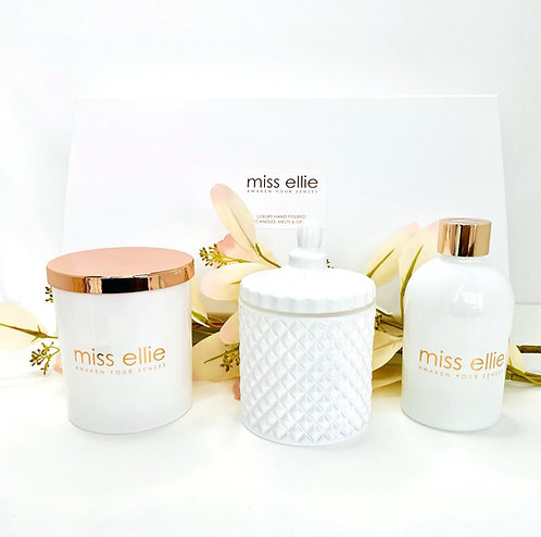 LUXURY TRIO GIFT BOX - WHITE