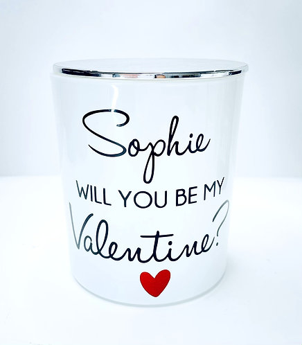 PERSONALISED VALENTINES DAY - XL WHITE