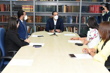 Diputados hacen visita de cortesía a vicepresidente de Finjus