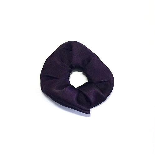 Purple (Aubergine) Silk scrunchie