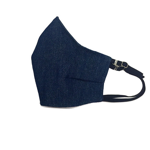Young Kid's Blue Denim face mask