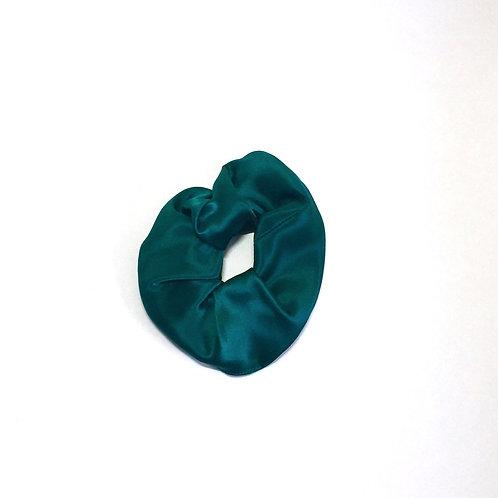 Emerald Green Silk scrunchie