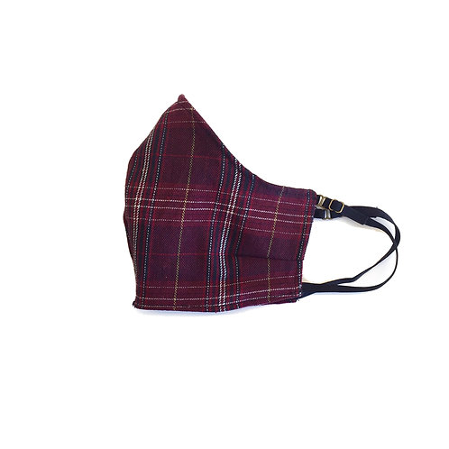Small Kid's Red Plaid face mask