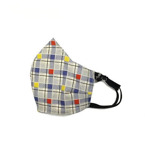 Young Kid's primary squares face mask