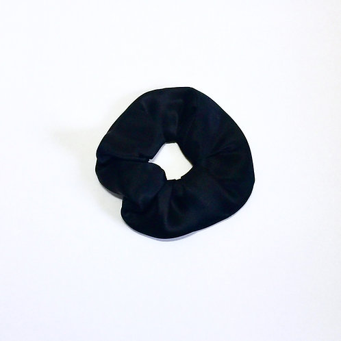 Black Silk scrunchie