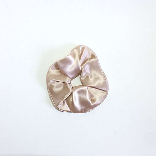 Blush Silk scrunchie