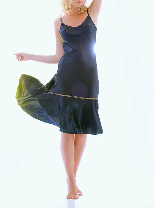 Strappy silk satin dress