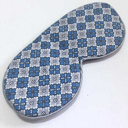 Unisex Grey/Blue cotton faced silk backed sleep mask
