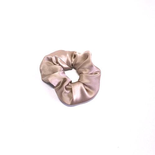 Nude/Sand Silk scrunchie