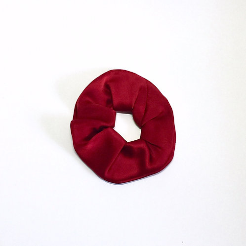 Red Silk scrunchie