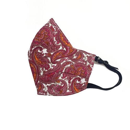 Women's Pink Paisley face mask