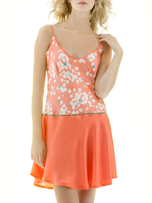 Coral Print negligee