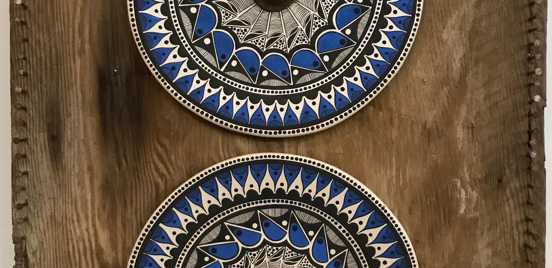 Tribal Blue Plates