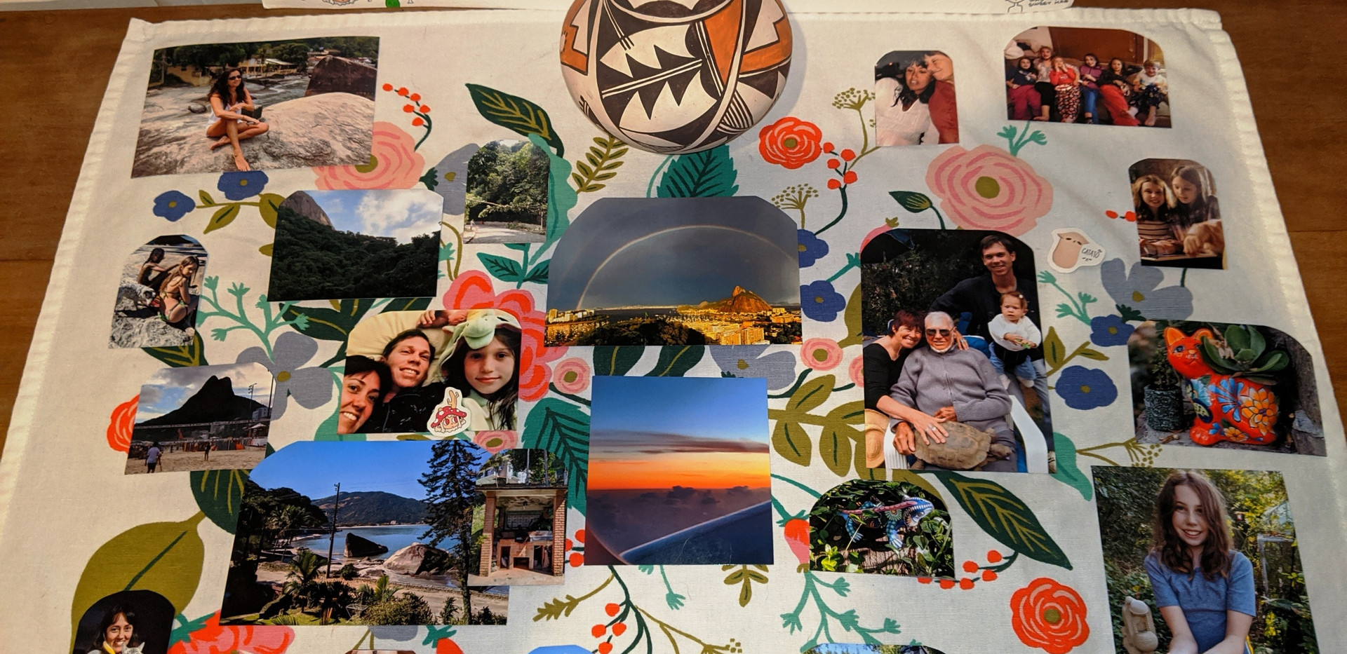 Collage by Tim, Dada, and Carolina Hill from the Brazil family branch