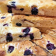 Blueberry and white chocolate Blondies