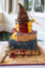 tiered harry potter wedding cake
