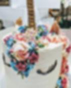 Unicorn flowers cake