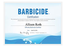 Barbicide Certificate.jpg Pittsburgh licensed and certified makeup artist