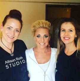 Allison with bride and Kristi Telnov
