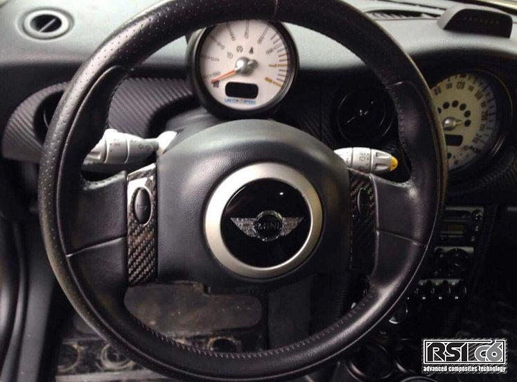 Steering wheel trims cover MINI R50 carbonfiber