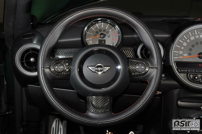 Steering wheel trims multifunction cover MINI R56 carbonfiber