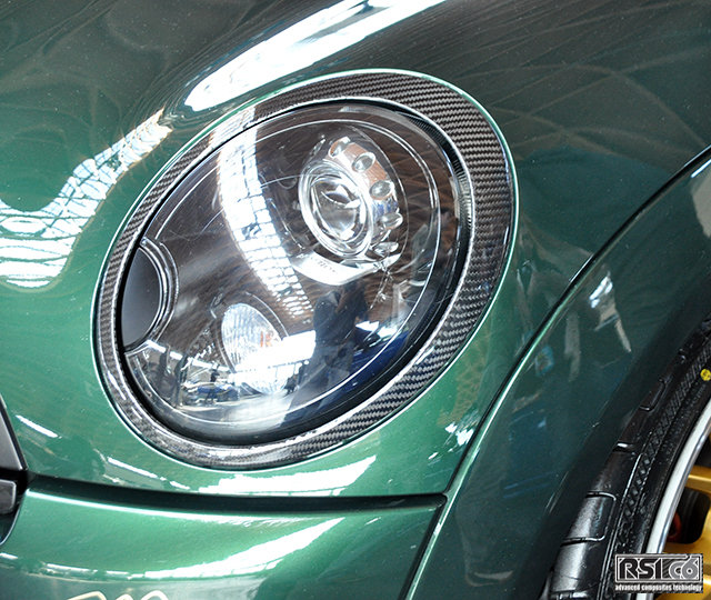 Head light trim MINI R56 carbonfiber