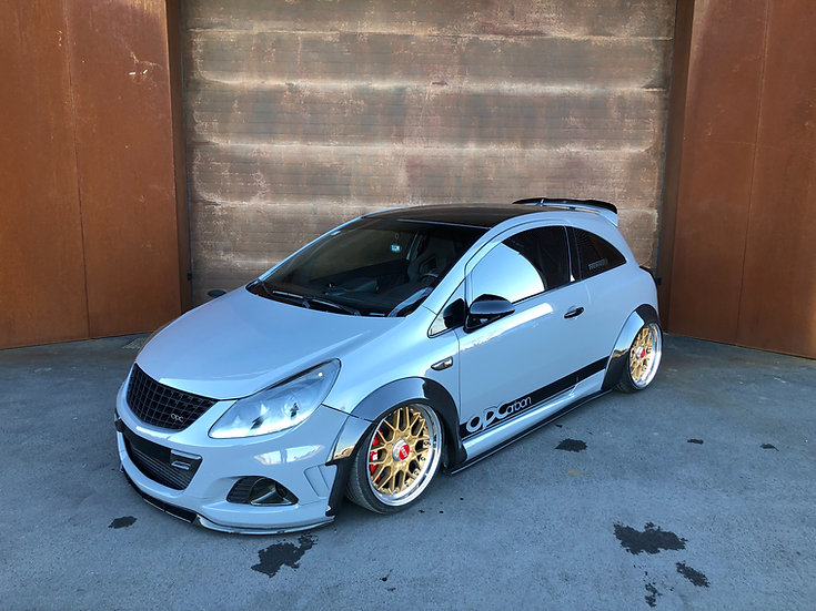 Wide arches Opel / Vauxhall Corsa D OPC carbonfiber version