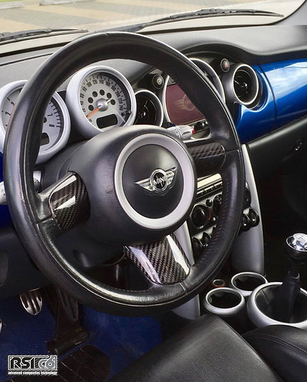 Steering wheel trims cover MINI R53 carbonfiber