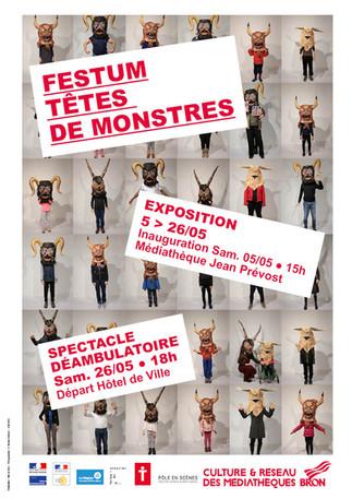 """J-10 avant l'inauguration de l'exposition """"Têtes de monstres"""""""