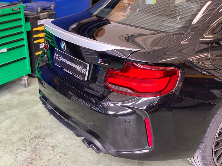 Ducktail rear spoiler BMW M2 F87 fiberglass version