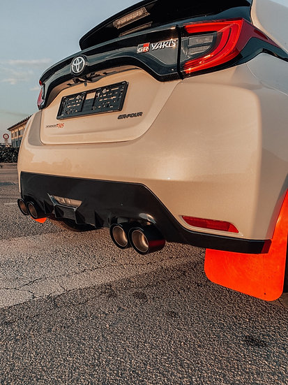 Rear Extractor FRP 4 exhaust pipes - Toyota GR Yaris