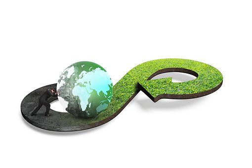 Circular economy concept. Arrow infinity